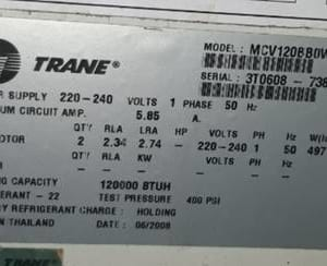 Bo mạch điều hòa Trane. Model: MCV120
