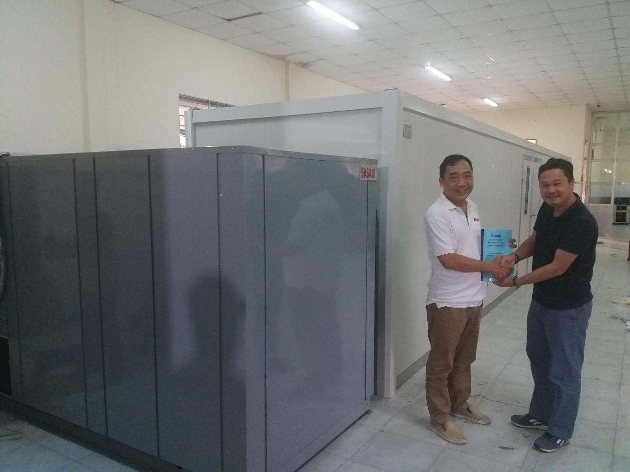 Máy sấy lạnh SASAKI. 3000kg/mẻ nguyên liệu đầu vào.
